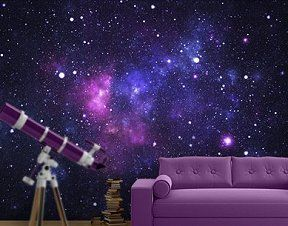 Galaxy Photo Wall Mural Space Galaxy Wall Murals Space Bedroom Wall Decorations