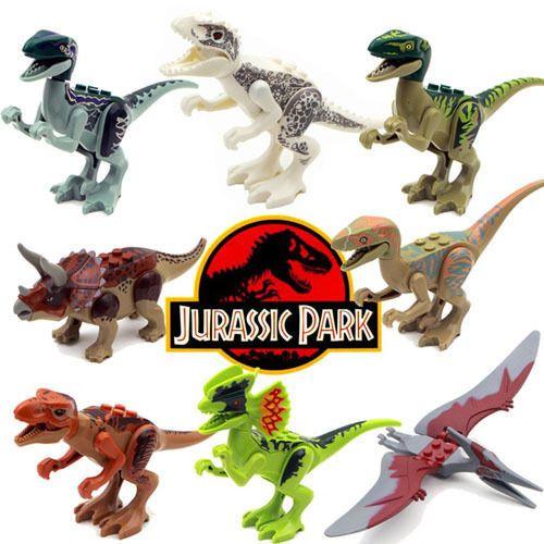 8pcs SET WorldDinosaurs Model Mini Figure Building Block Toy Kids Xmas Gift