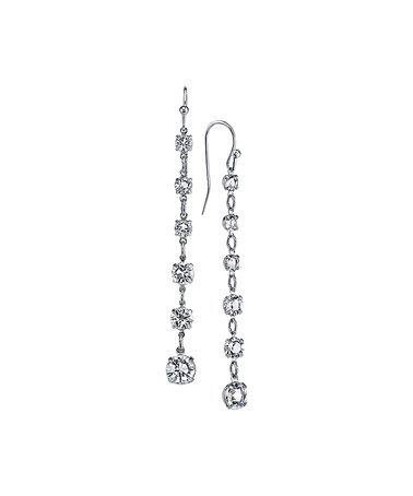 Look what I found on #zulily! Swarovski® Crystal & Silvertone Linear Drop Earrings #zulilyfinds