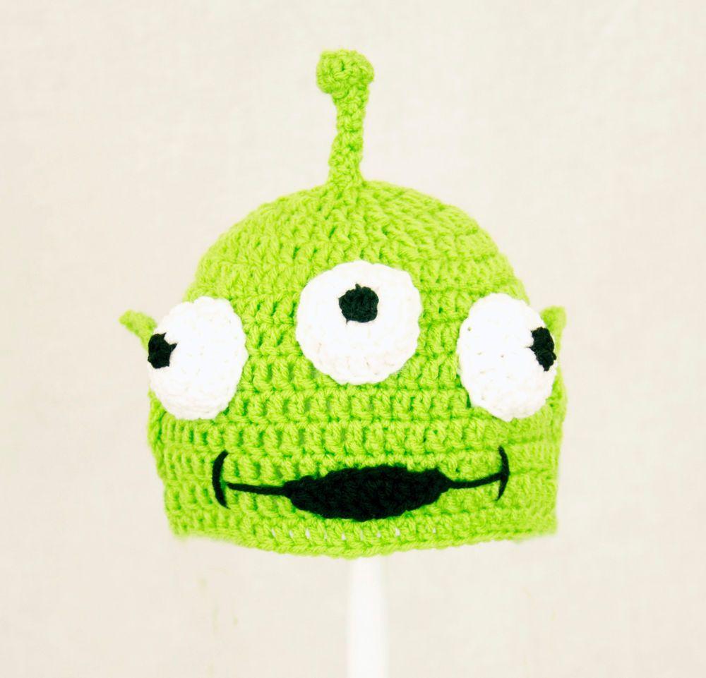 Toy Alien Hat from Toy Story, Green Crochet / Knit Disney Beanie ...