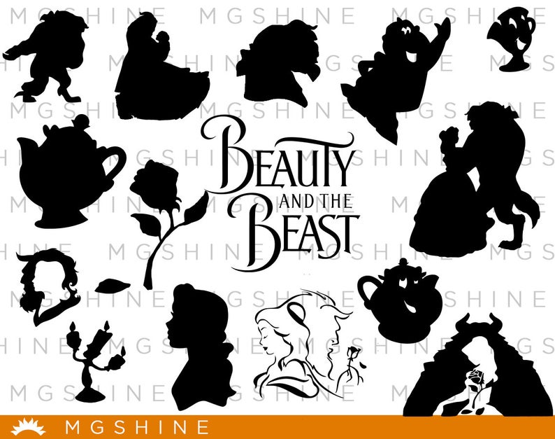 Beauty And The Beast Svg For Cricut Silhouette Beauty And Etsy Beauty And The Beast Silhouette Disney Silhouette Art Beauty And The Beast