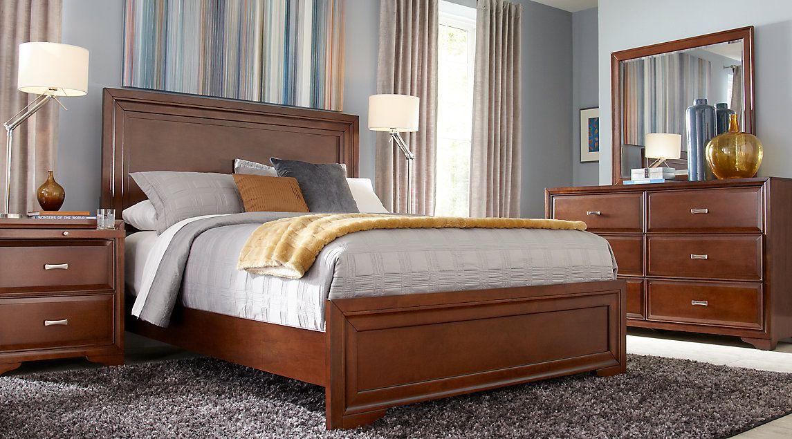 Dark Wood King Bedroom Sets Cherry Espresso Mahogany Brown Custom Wood Bedroom Sets Inspiration Design