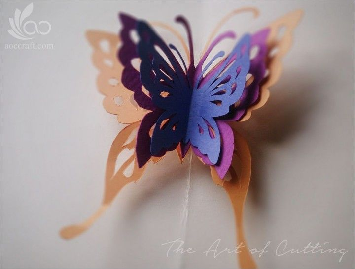 Tutorial Make A Butterfly Popup Card How To Make Butterfly Pop Up Cards Pop Up Flower Cards