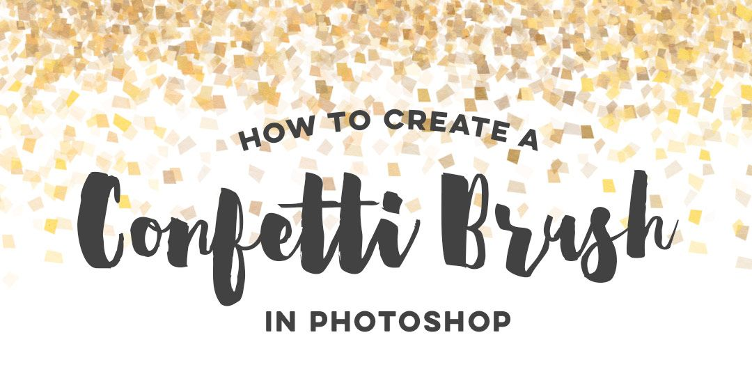create a confetti brush in adobe photoshop