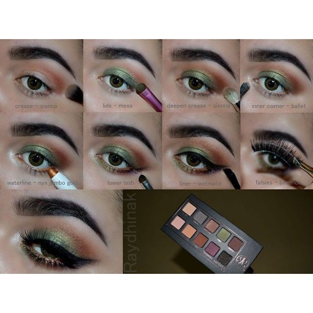 Photo of Step by step eye makeup – PICS. My collection –  green and bronze eye makeup tut…