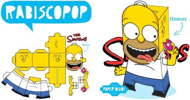 Oh Pinaise Nous N Avions Encore Jamais Publie Le Papertoy D Un Simpson Voila Qui Est Chose Faite Avec Ce Papercraf Homer Simpson Brinquedos De Papel Ideias