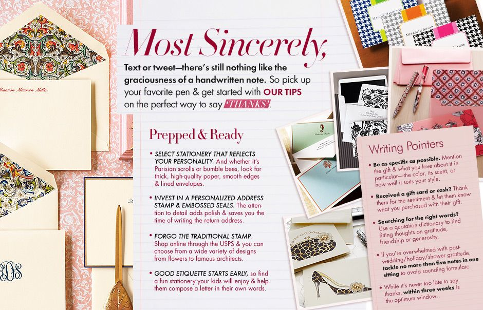 Neiman Marcus Wedding Gifts: Write The Perfect Thank You
