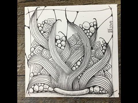 Easy Zentangle Zendoodle Art Enyshou Youtube Easy Zentangle Zentangle Zen Doodle Art