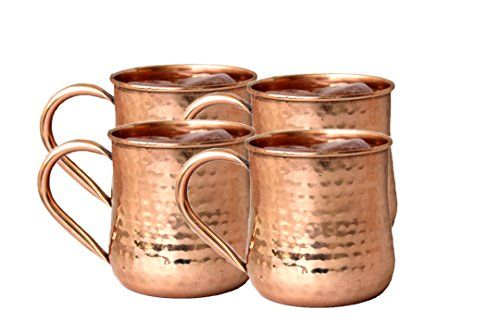 Street Craft Copper Moscow Mule Mug Handmade Of 100 Pure Hammered Mugs Cups 16 Ozcopper Handle Set Of4 Click Image For More