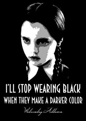 Wednesday Addams Mancave Poster Print   metal posters в ...