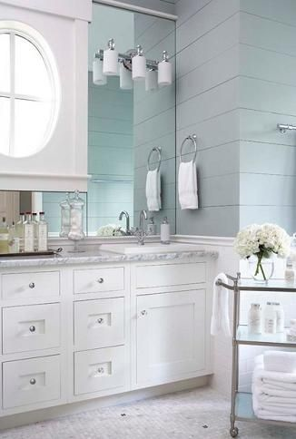 Shiplap And Beadboard Walls Give Cape Cod Bathrooms A Textured, Old  Fashioned Appeal (by