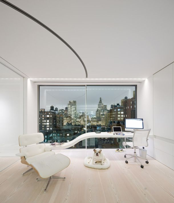 White Loft in New York | Work space | Home office