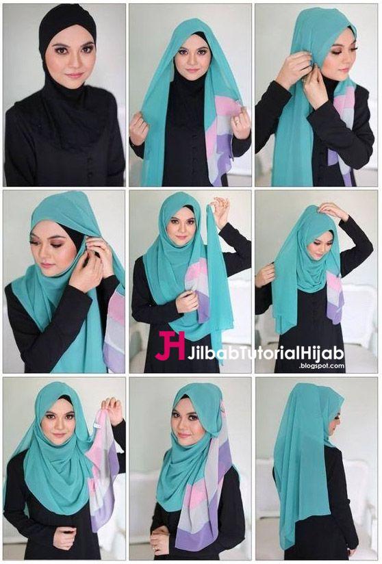 Kumpulan Gambar Tutorial Cara Memakai Hijab 1 Jilbab Tutorial Hijab Jilbab Sederhana Hijab Model Pakaian Hijab