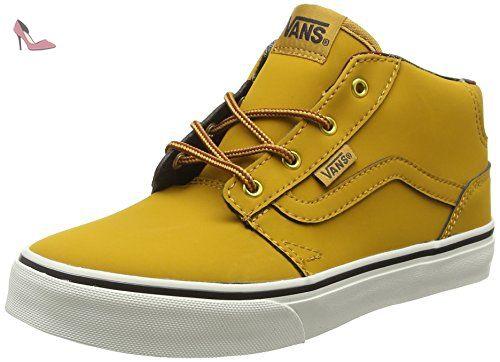 Vans Chapman Mid, Sneakers Hautes Mixte Enfant, Marron (Waxed Oak ...