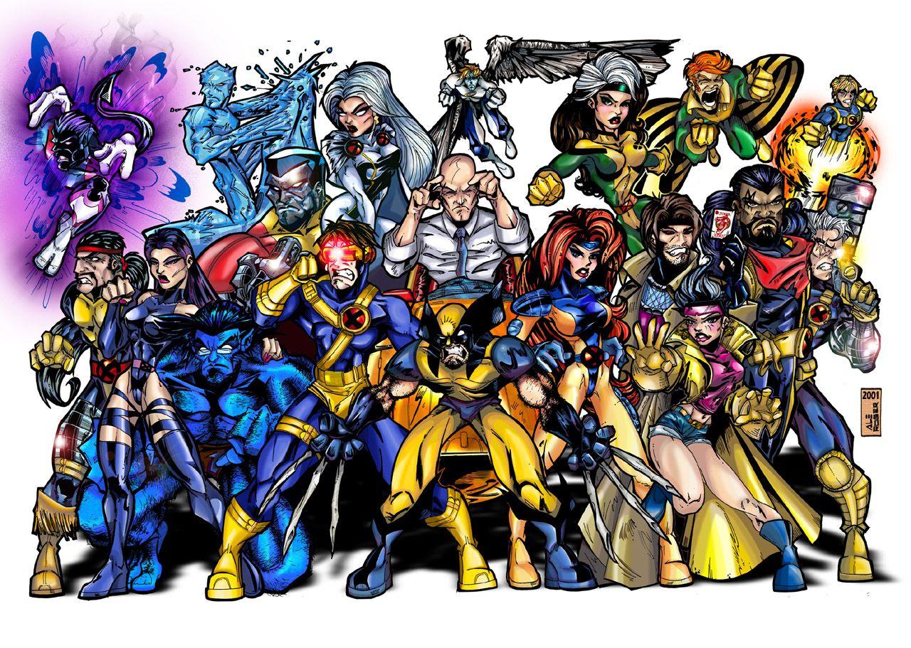 X Men Color By Aleroger On Deviantart X Men Retro Comic Book Comic Books Art