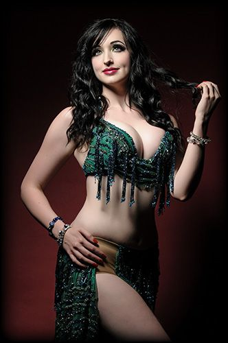 Portrait Of A Beautiful Belly Dancers Stock Photo - Image of ...