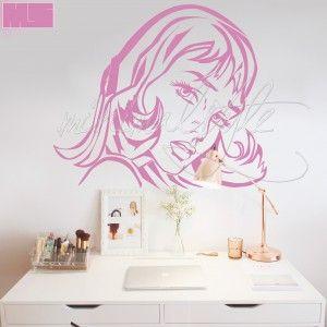 girl with hair ribbon l ny hajp nttal falmatrica a k vetkez m retekben kaphat 50 43 cm 2. Black Bedroom Furniture Sets. Home Design Ideas