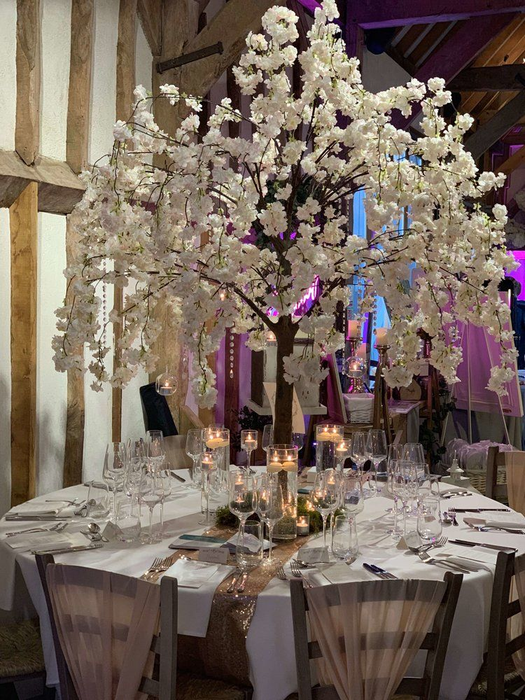 Blossom Tree Centrepice Hire In Surrey Sussex Kent And Hampshire For Your Wedding Tree Wedding Centerpieces Blossom Tree Wedding Cherry Blossom Centerpiece