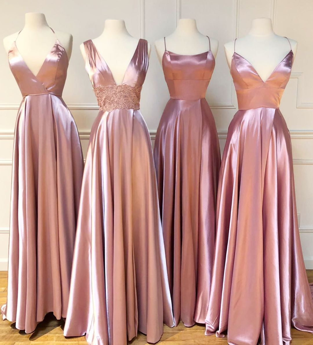 2020 Long Pink Bridesmaid Dresses For Wedding Party A Line Plus Size Women Dress Gowns