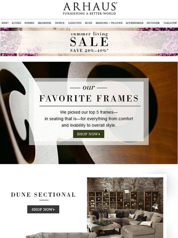 Arhaus: See What Made The List: Our Favorite Frames