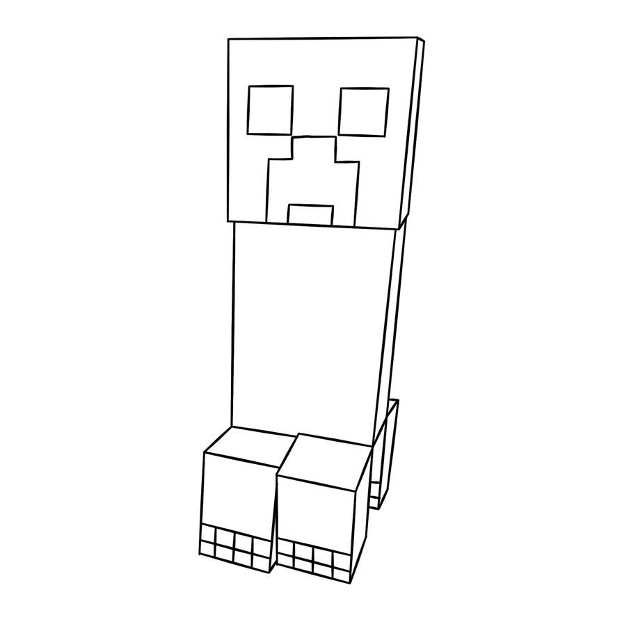 Creeper Minecraft Colouring Pages Raskraski
