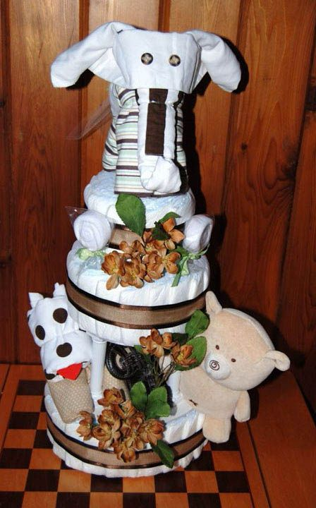 how to make a diaper cake with receiving blankets
