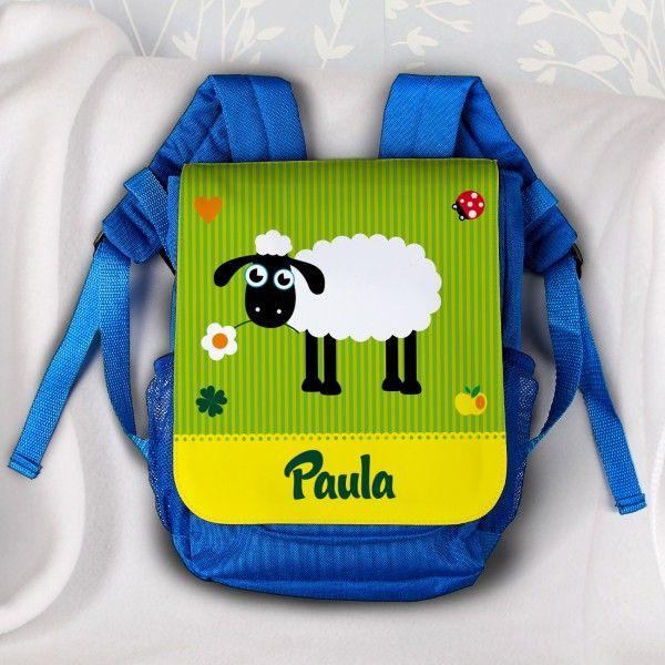 Rucksack für Kinder mit Namen und Schaf als Motiv | geschenke-online.de