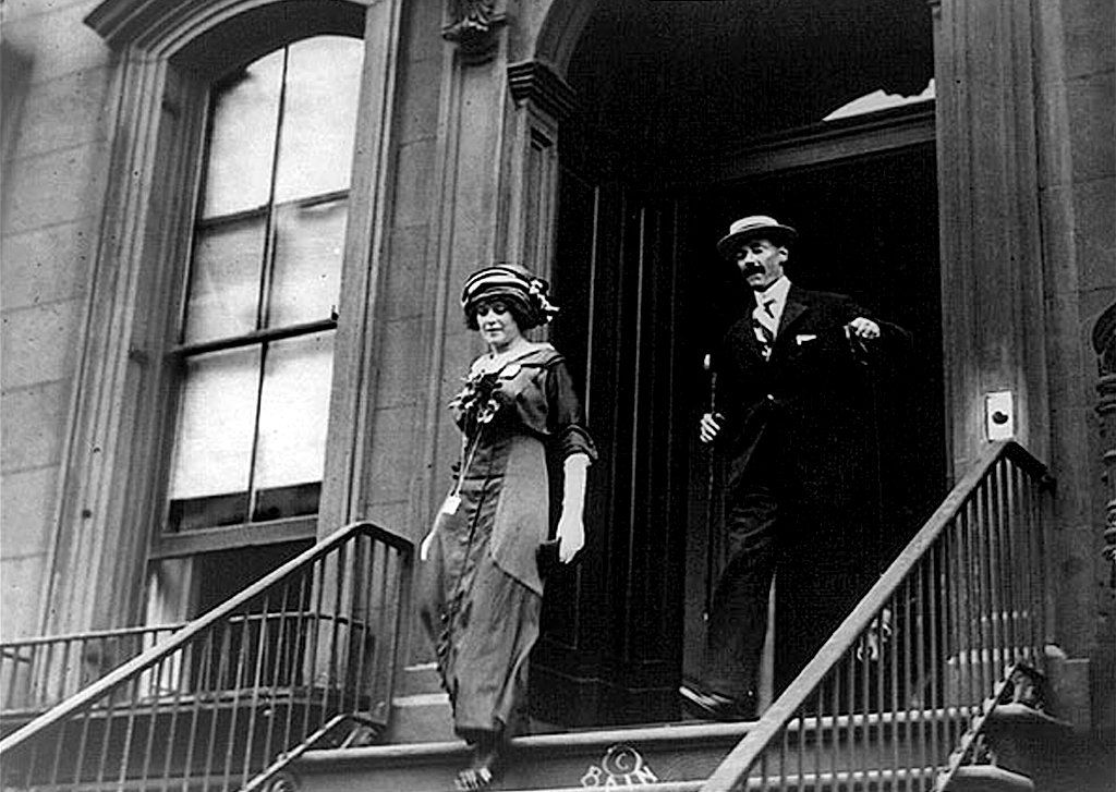 The John Jacob Astor IV and Madeleine Talmadge Force before their marriage in 1911. Mr. and Mrs. Astor, returning from their honeymoon, were among the passengers traveling in first class on the Titanic.