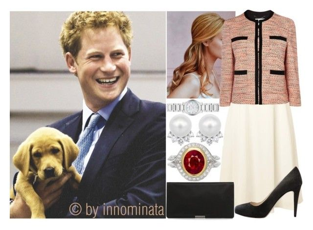 """Visiting the Canine Partners Training Centre"" by innominata ❤ liked on Polyvore featuring L.K.Bennett and Burberry"