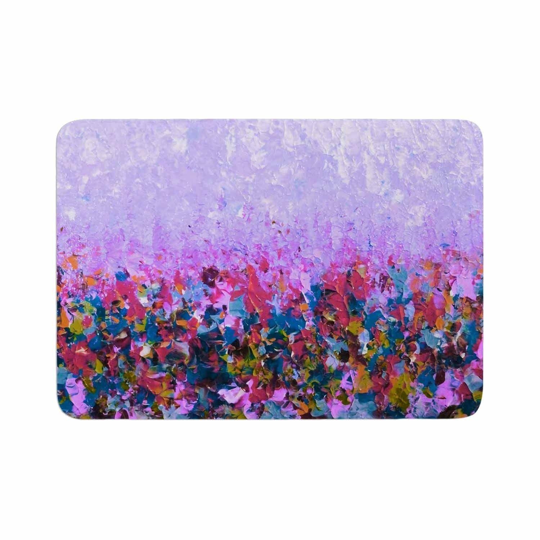Ebi Emporium Natures Living Room Purple Memory Foam Bath Mat
