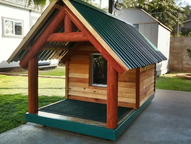 Daily Kos: Ally\'s Lodge (building her dog house) Again with the ...