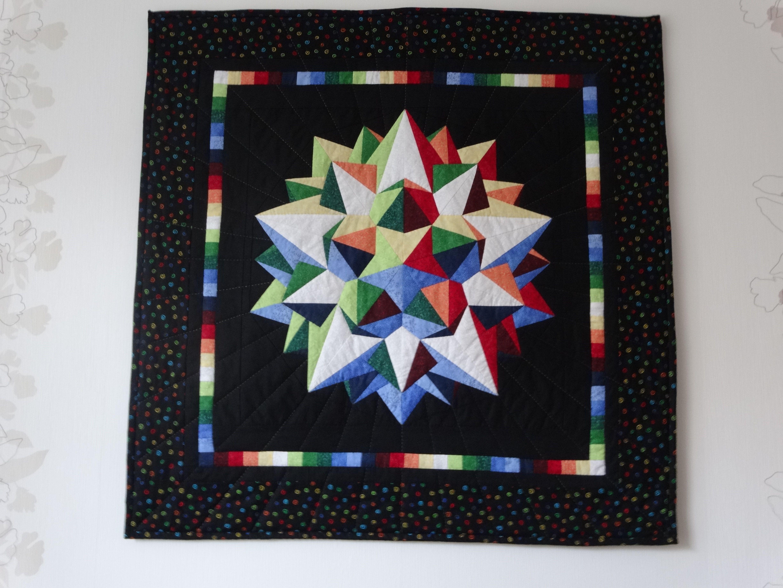 3D ster, handmade, pattern Ulla Lenz 1.00 x 1.00 m