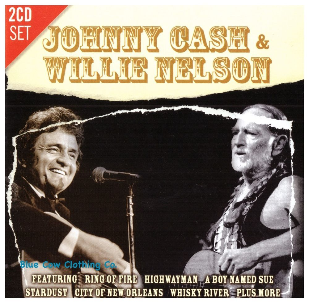 Johnny Cash & Willie Nelson Live CD (2 Disc Set)