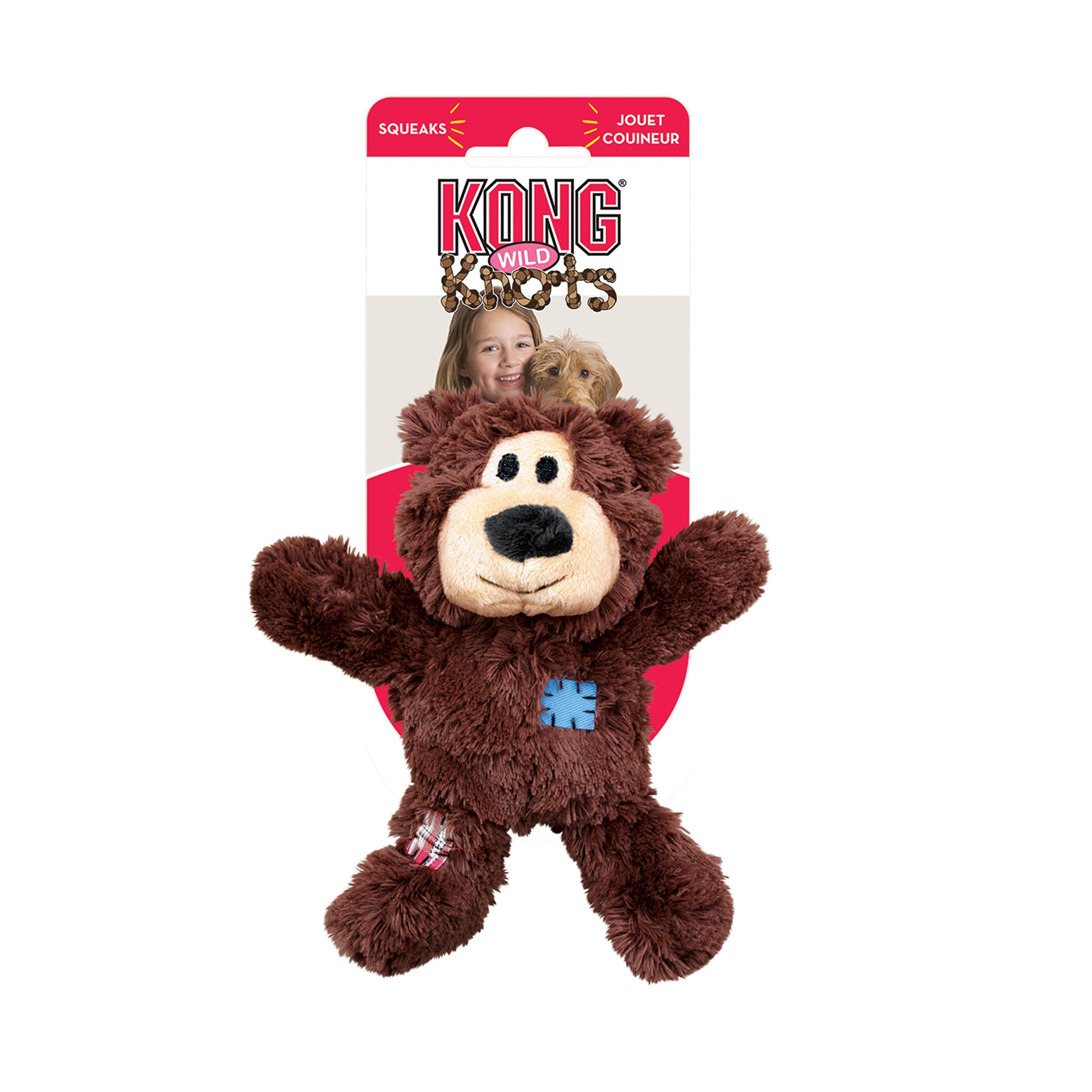 Kong Wild Knots Squeaker Bears For Dogs Medium Large