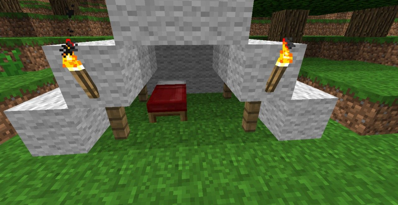 Minecraft Campsite Ideas Tent Google Search With Images