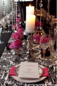 Damask table setting & Damask table setting | Wedding ideas | Pinterest | Elegant table ...