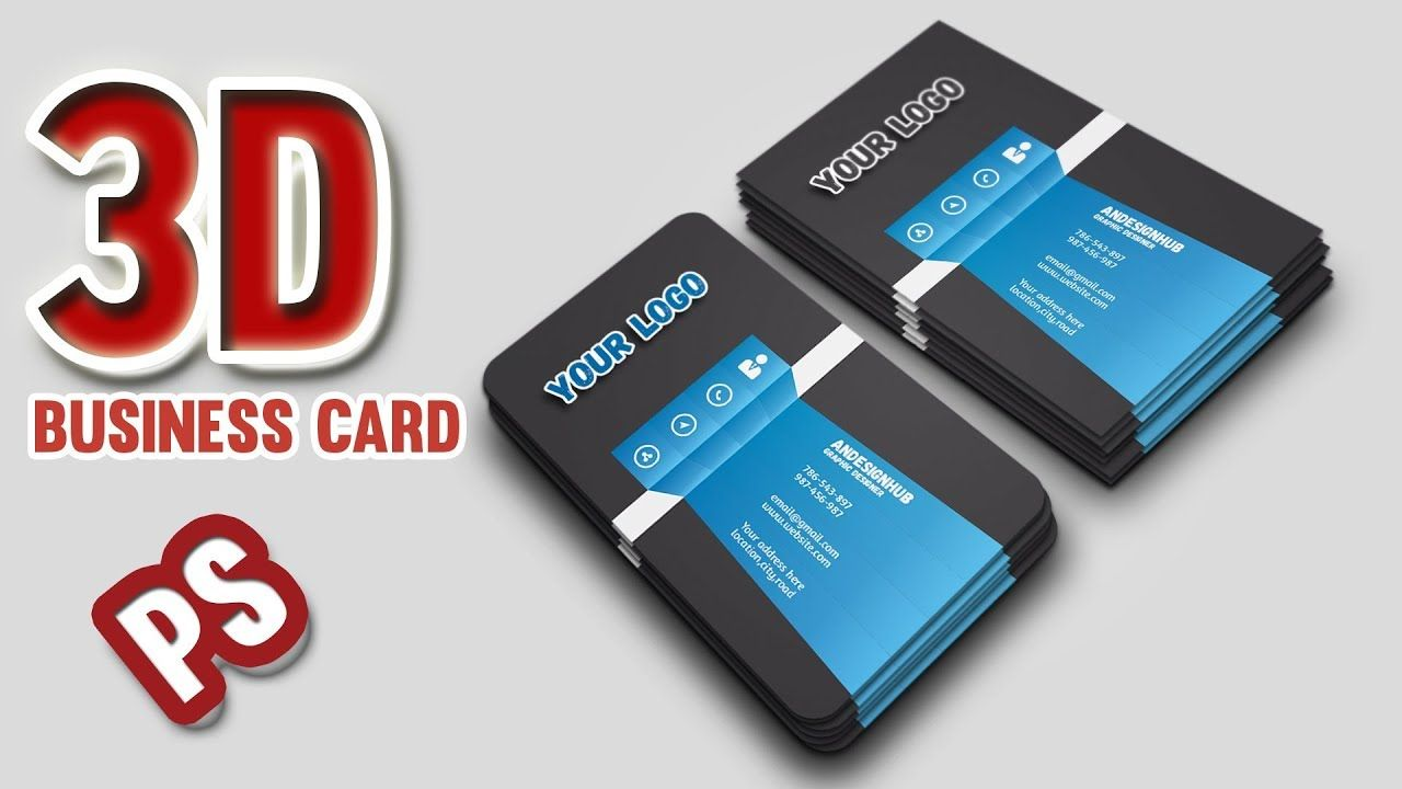 How To Create 3d Business Card Design 3d Business Card Business Card Design Business Cards