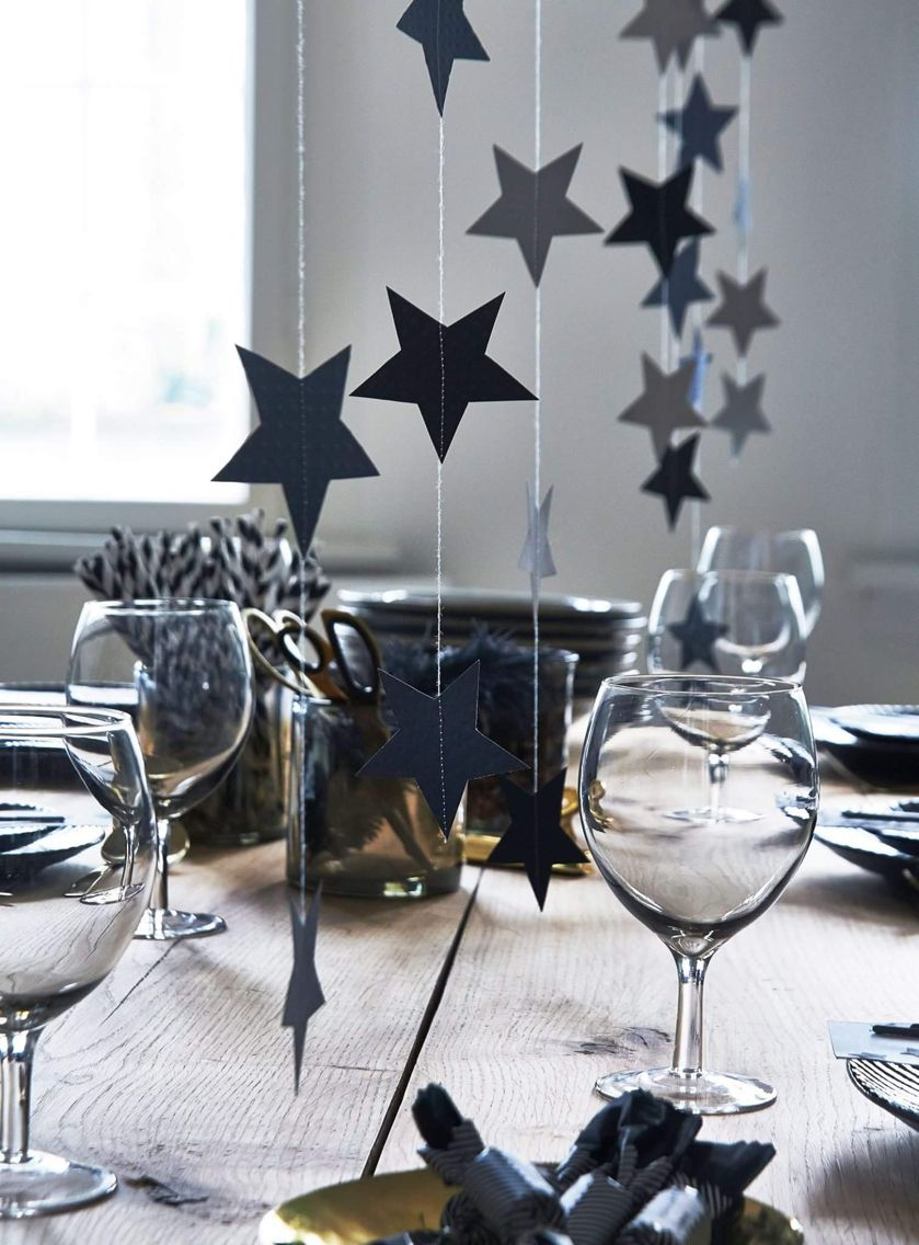 Nytårs borddækning | Nytår | Pinterest | Jul, Borddækning og Barnedåb