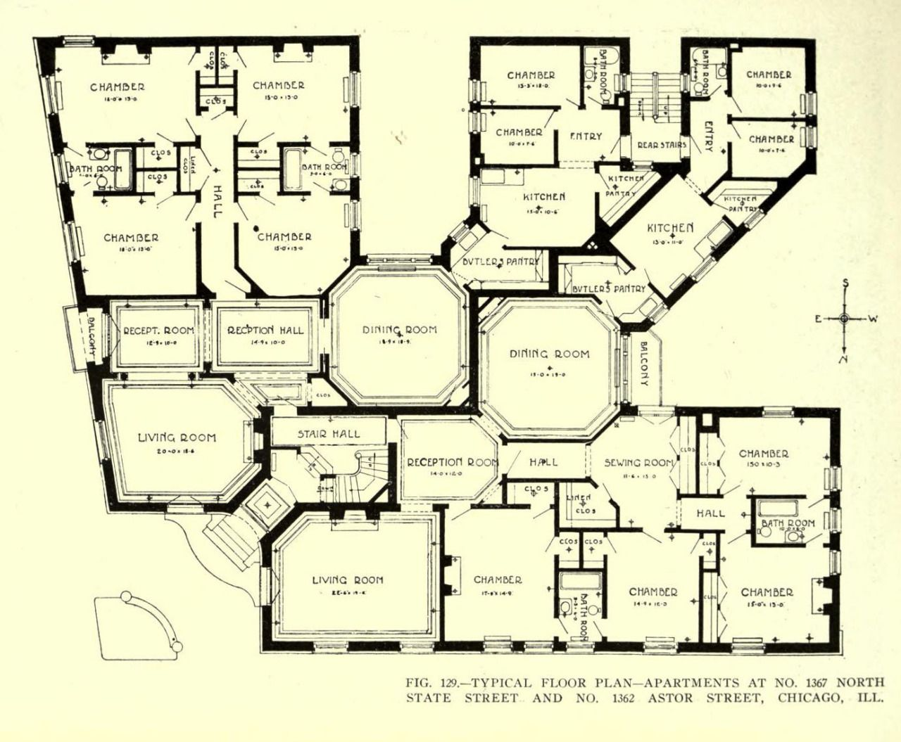 Floor plan for an apartment building chicago floor for Apartment building blueprints