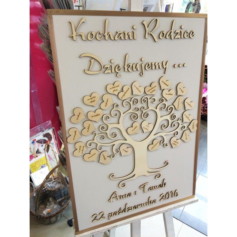 Podziekowania Dla Rodzicow Drewniane Drzewko Z Grawerem Jpg 800 800 Wedding Novelty Sign Decor