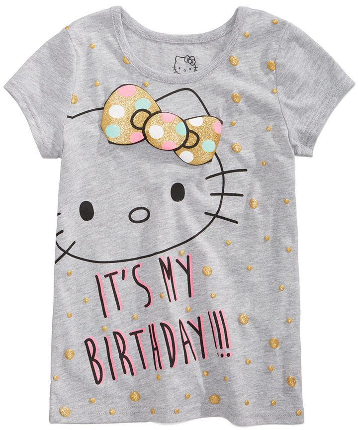Hello Kitty Birthday T Shirt Little Girls