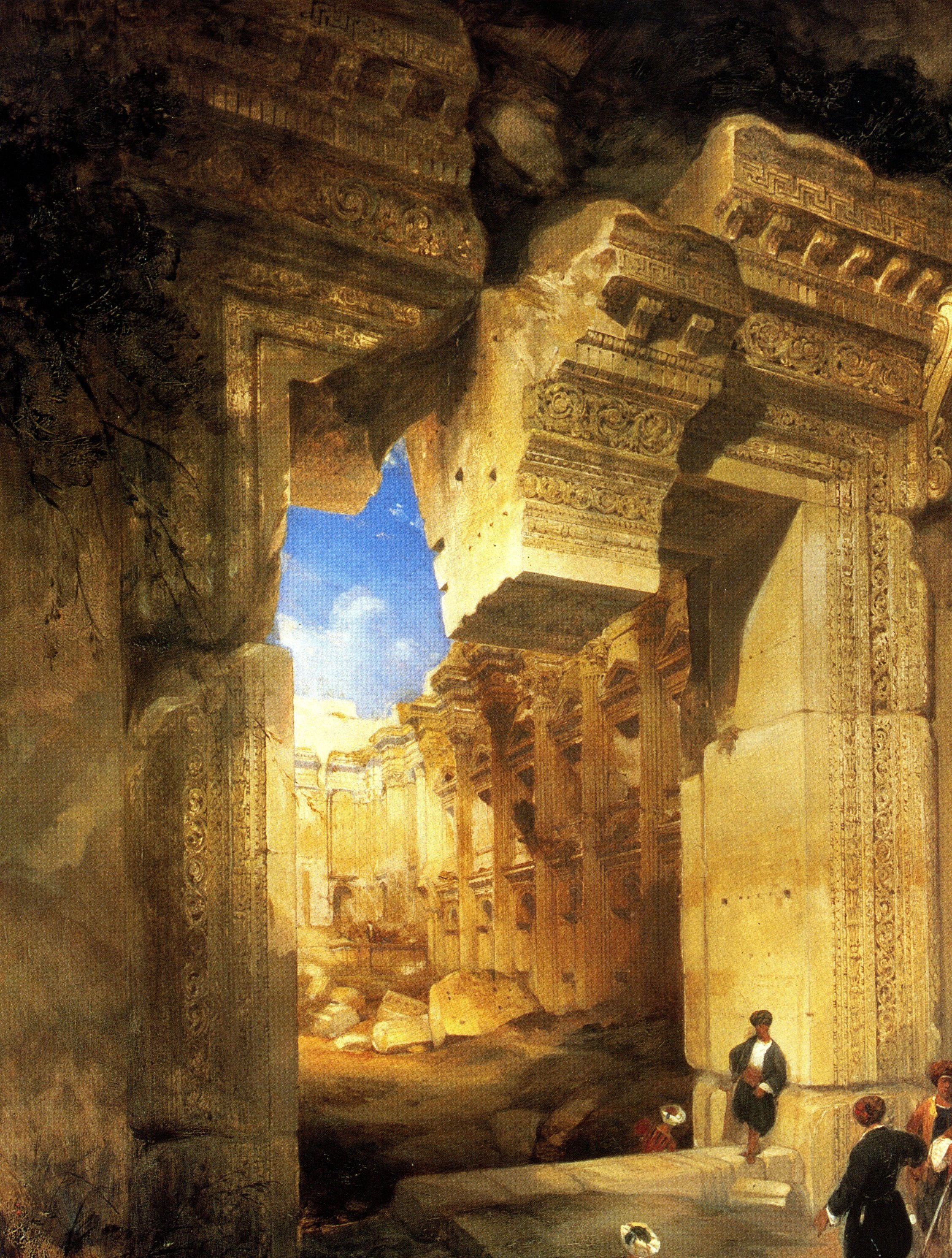 Ruins of the Great Temple at Karnak, in Upper Egypt - David Roberts ...