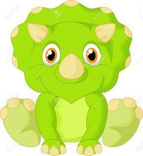 Cute Triceratops Cartoon Baby Dinosaurs Dinosaur Clip Art Dinosaur Images