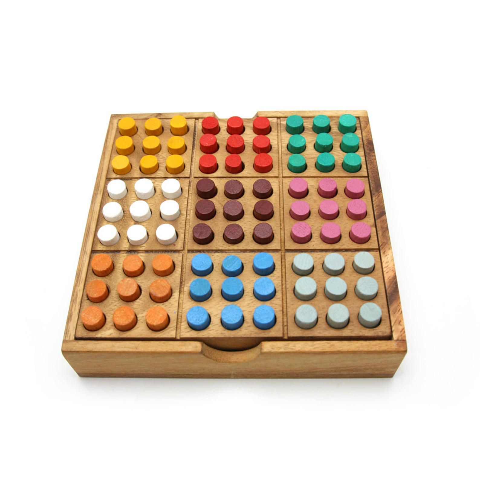 Colored Sudoku wood game, sudoku wooden board game