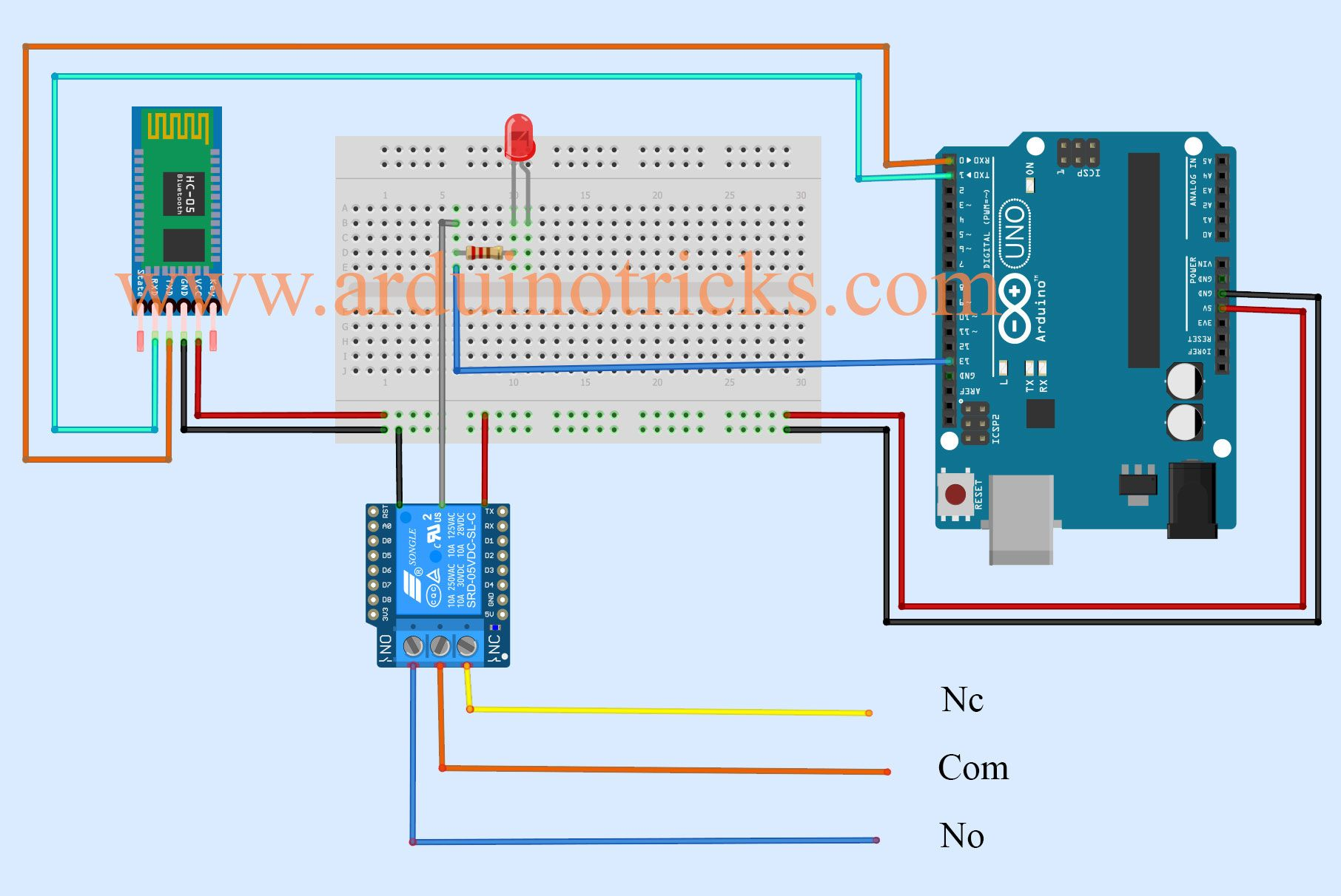 Bluetooth Controller Lamp With Relay Module With Images
