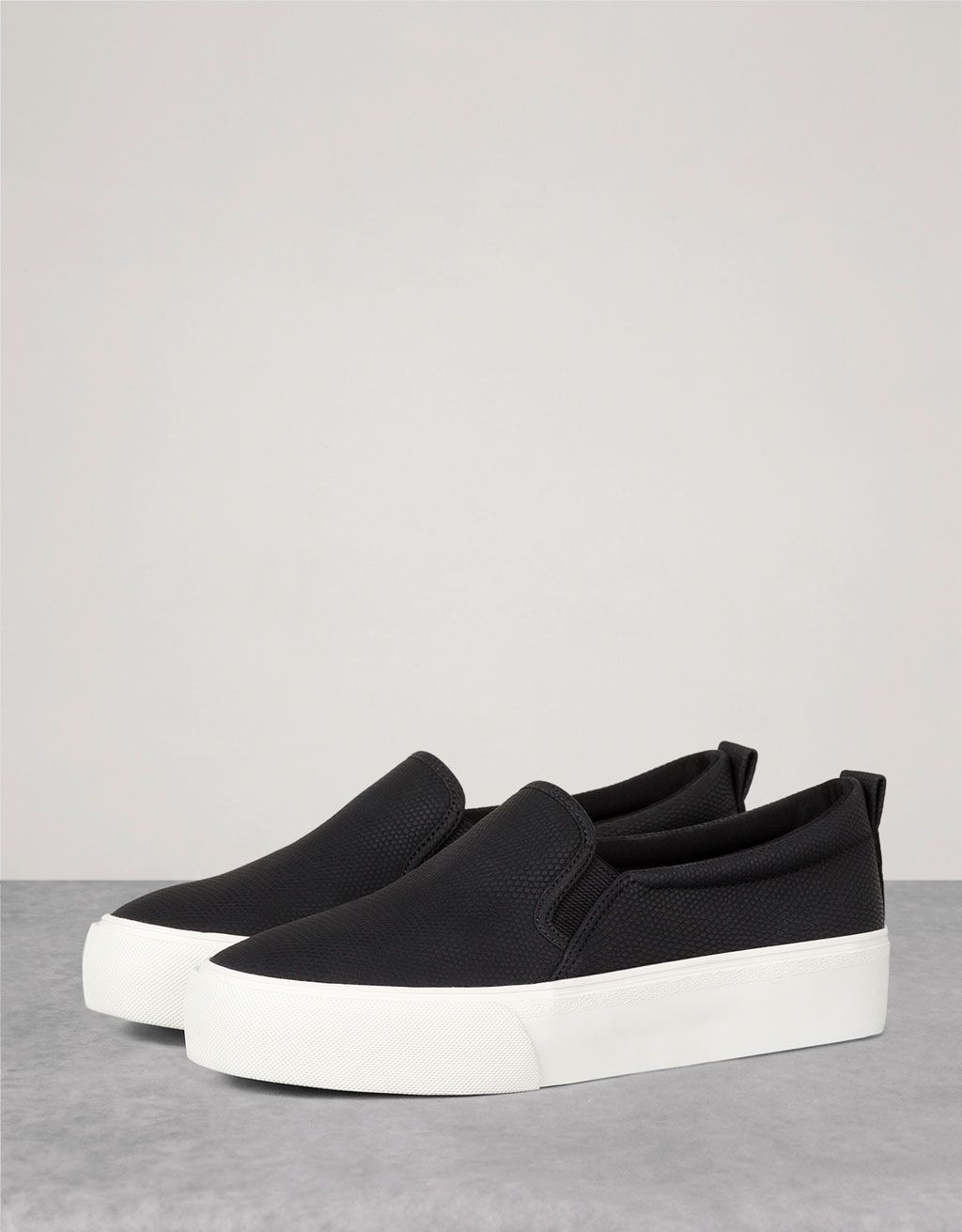 quality design a3319 22a6a no lace embossed sneakers - View All - Bershka Ukraine    giftryapp  Zapatillas Bershka,