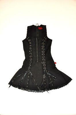 tripp nyc black corset dress size s punk gothic with