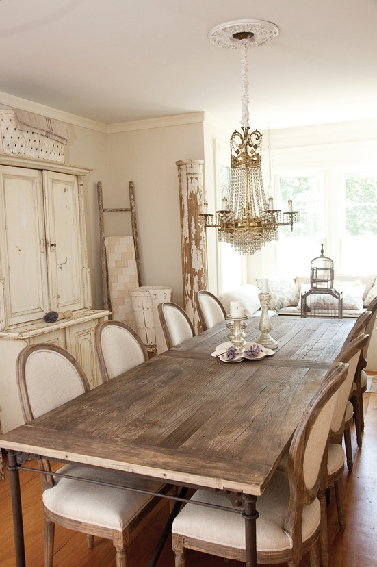 Gorgeous Rough Wood Dining Table