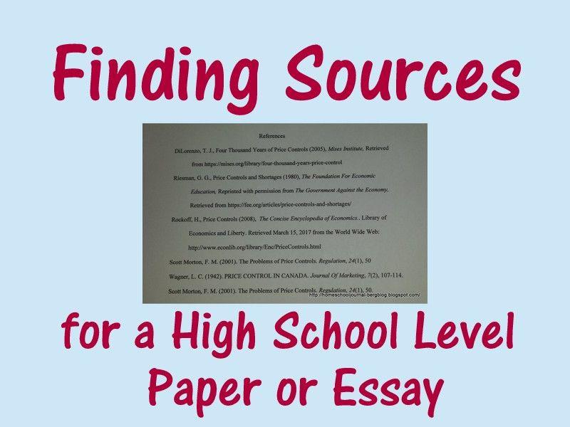 High school level essays