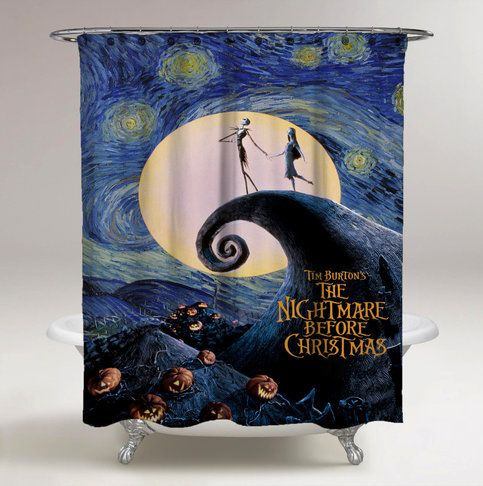 Nightmare Before Christmas Starry Night Custom Design Shower Curtain Print On Sold By Ooreedoo Shop More Products From Storenvy